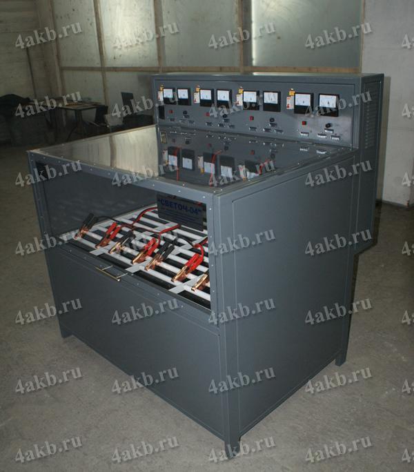 Шкаф серии Светоч для зарядки АКБ. Вид в закрытом положении