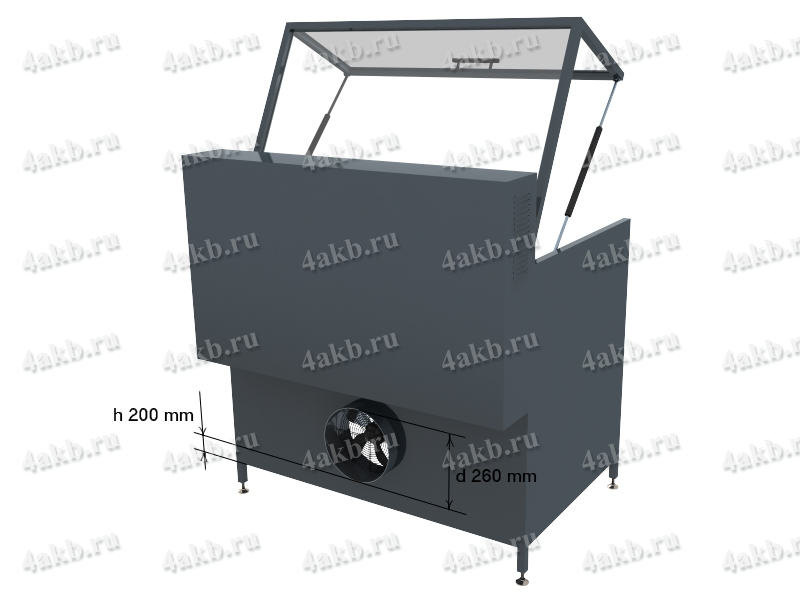 Схема расположения силовой розетки для подключения зарядного шкафа