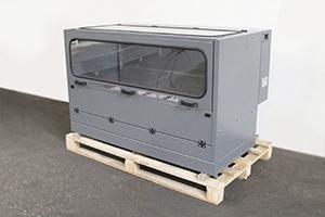 Вид сбоку металлического шкафа для заряда и десульфатации