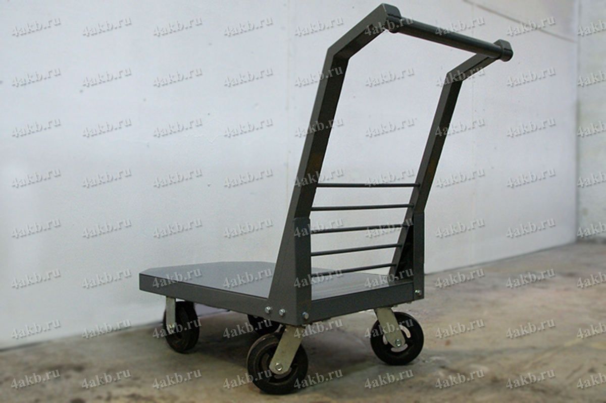 Модернизированная конструкция тележки для перевозки АКБ