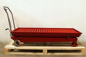 Внешний вид тележки рольганг со сложенной подъемной платформой