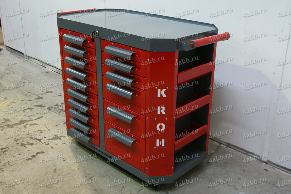 Тумба для хранения инструмента аккумуляторщика
