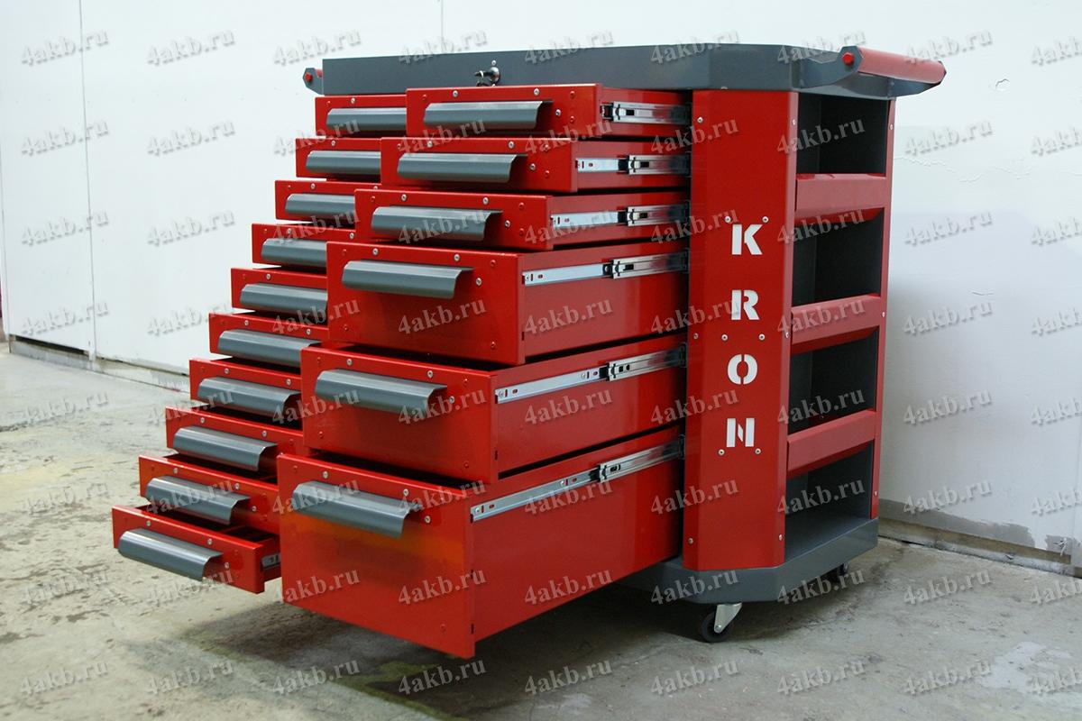 Выдвижные ящики тумбы аккумуляторщика