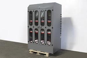 Фото трехъярусного шкафа для заряда АКБ