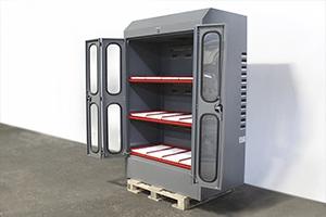 Шкаф для заряда аккумуляторов в открытом виде