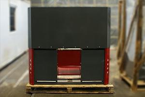 Экран верстака аккумуляторщика вид сзади