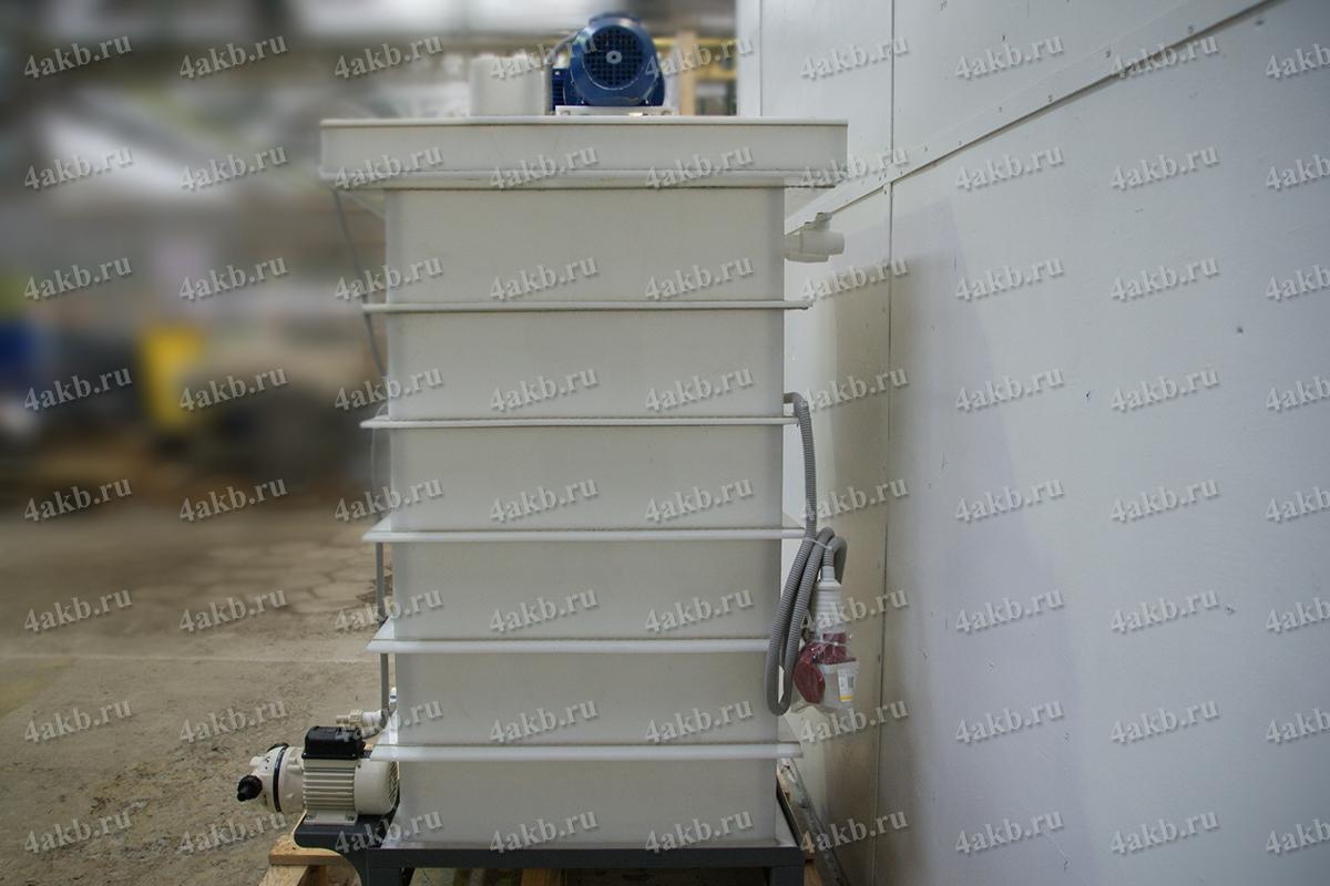 Установка для приготовления и дозирования щелочного иили кислотного электролита