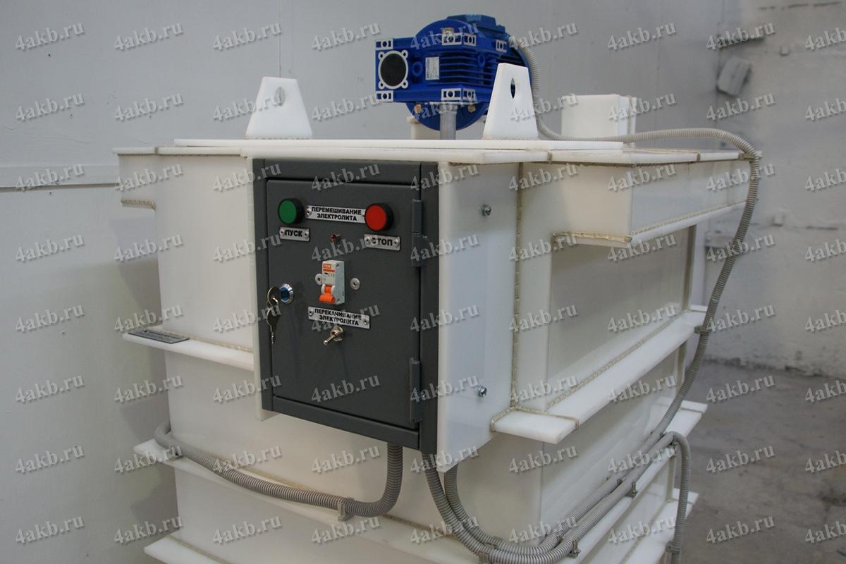 Внешний вид установки для приготовления электролита