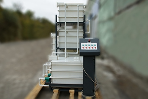 Выносной пульт управления насосами для перекачки электролита