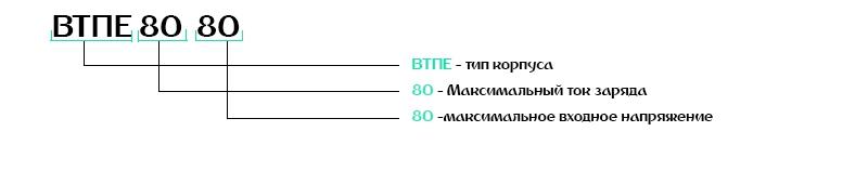 Расшифровка зарядных устройств ВТПЕ