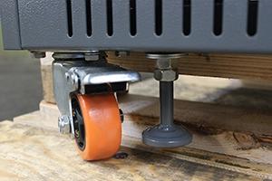 Фото колеса с тормозом и стойки  выпрямителя ВЗА-Р-Р