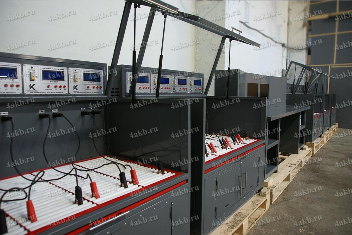 Шкафы Светоч в составе зарядного комплекса в открытом положении