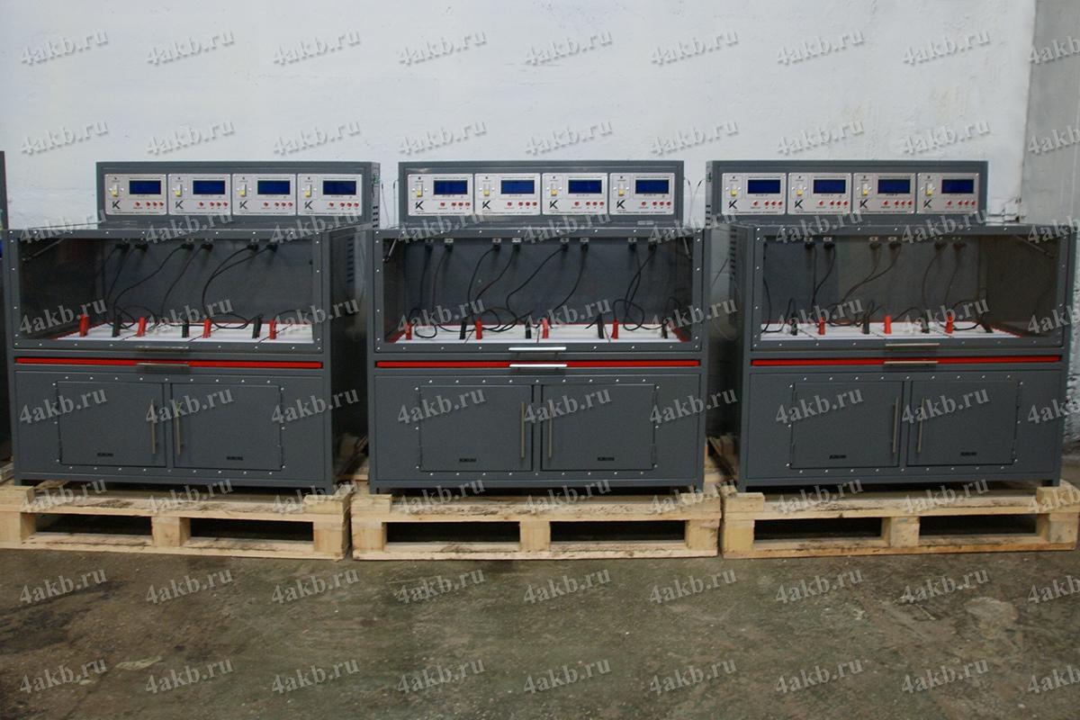 Группа зарядных шкафов Светоч-04-04 соединенных между собой