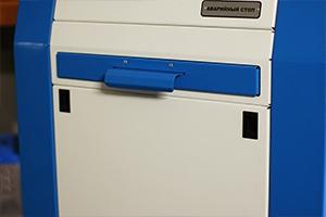 Выдвижной ящик для установки клавиатуры на зарядно-разрядном устройстве